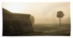 Morning Fog At Fort Moultrie  Hand Towel