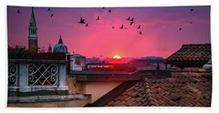 Morning In Venice  Hand Towel