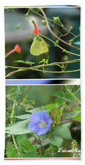 Morning Glories And Butterfly Bath Towel by EricaMaxine  Price