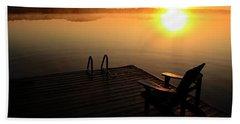 Morning Glory At The Lake Bath Towel