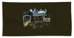 Bath Towel featuring the photograph Morning Glory Cafe Ashland by Thom Zehrfeld