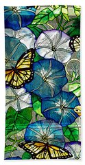 Morning Glory Hand Towel by Diane E Berry