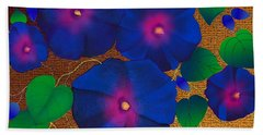 Morning Glory Hand Towel by Latha Gokuldas Panicker