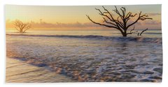 Morning Glow At Botany Bay Beach Hand Towel