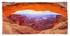 Hand Towel featuring the photograph Morning Glow by Brad Scott