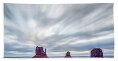 Morning In Monument Valley Bath Towel by Jon Glaser