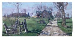 Morning In The Farm Georgetown Hand Towel by Ylli Haruni