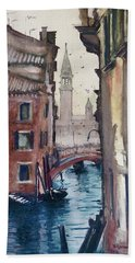 Morning In Venice Bath Towel