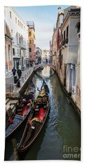 Morning In Venice In Winter Hand Towel
