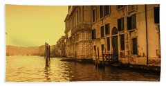Morning In Venice Sepia Hand Towel