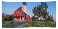 Morning Light At Au Sable Point Hand Towel