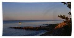 Morning Light At Grey Neck Beach Hand Towel