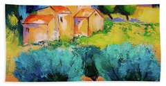 Hand Towel featuring the painting Morning Light By Elise Palmigiani by Elise Palmigiani