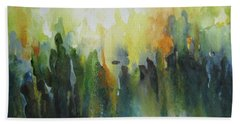 Hand Towel featuring the painting Morning Light by Elena Oleniuc