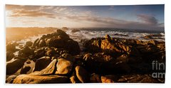 Hand Towel featuring the photograph Morning Ocean Panorama by Jorgo Photography - Wall Art Gallery