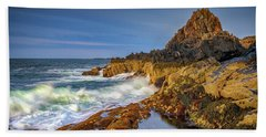 Bath Towel featuring the photograph Morning On Bailey Island by Rick Berk