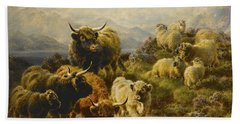 Morning On The Mountains Bath Towel