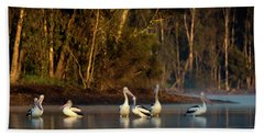 Morning On The River Hand Towel
