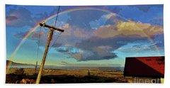 Morning Rainbow Over Kalaupapa Bath Towel by Craig Wood