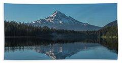 Morning Reflections Of Mount Hood Hand Towel