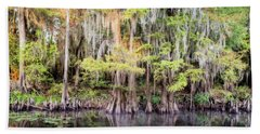 Morning Reflections On Big Cypress Bayou Hand Towel