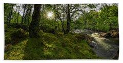 Morning River Sun Bath Towel by Ian Mitchell