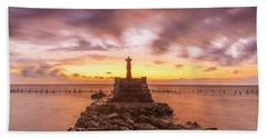 Morning Scene In Nusa Penida Beach Hand Towel