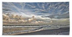 Morning Sky At The Beach Hand Towel by HH Photography of Florida