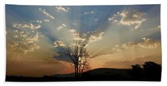 Morning Sun Rays Hand Towel