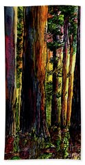Morning Trees Bath Towel by Terry Banderas
