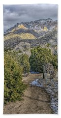Hand Towel featuring the photograph Morning Walk by Alan Toepfer