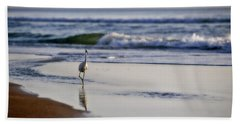Morning Walk At Ormond Beach Hand Towel