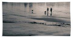 Morning Walk, Gooch's Beach, Kennebunk, Maine Bath Towel