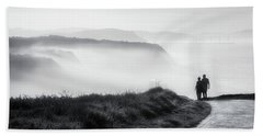 Morning Walk With Sea Mist Bath Towel