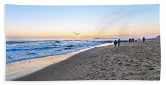 Bath Towel featuring the photograph Moro Sunset by Anthony Baatz