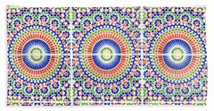 Hand Towel featuring the photograph Moroccan Tiles by Tom Gowanlock