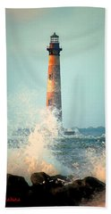 Morris Island Lighthouse Bath Towel