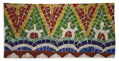 Mosaic Fountain Pattern Detail 4 Bath Towel
