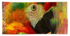 Mosaic Macaw 2016 Hand Towel