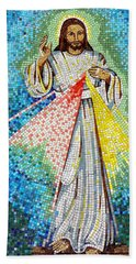 Hand Towel featuring the photograph Mosaic Of Christ Rising by Joseph Frank Baraba
