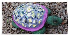 Bath Towel featuring the ceramic art Mosaic Turtle by Jamie Frier