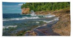 Mosquito Harbor Waves  Hand Towel
