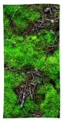 Hand Towel featuring the photograph Moss On The Hillside by Mike Eingle