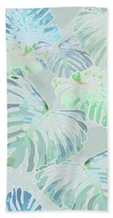 Mossy Faded Monstera Hand Towel