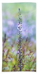 Hand Towel featuring the photograph Moth Mullein - Wildflower Art by Kerri Farley