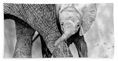 Mother And Baby Elephant Bath Towel
