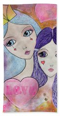 Mother And Daughter Hand Towel