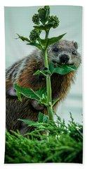 Mother Groundhog Fine Dining Hand Towel