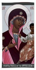 Mother Of God - Protectress Of The Oppressed - Rlpoo Hand Towel