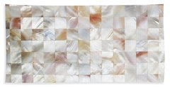 Mother Of Pearl Hand Towel by Uma Gokhale
